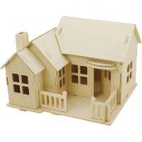 Costruzioni 3D, Casa con terrazza, misura 19x17,5x15 , 1 pz