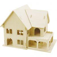 Costruzioni 3D, Casa con veranda, misura 22,5x16x17,5 , 1 pz