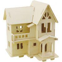 Costruzioni 3D, Casa con balcone, misura 15,8x17,5x19,5 , 1 pz