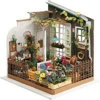 Stanza in miniatura fatta a mano, Giardino, H: 21 cm, L: 19,5 cm, 1 pz