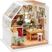 Stanza in miniatura fatta a mano, Cucina, H: 18,7 cm, L: 19 cm, 1 pz