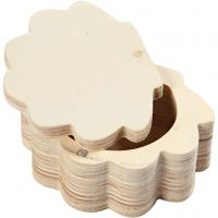 Scatola in legno, H: 4 cm, L: 8 cm, 1 pz