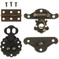 Mini giunture, misura 30-35 mm, oro antico, 10 set/ 1 conf.