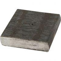 Sostegno di metallo, misura 4x4x1 cm, misura buco 2 mm, 1 pz