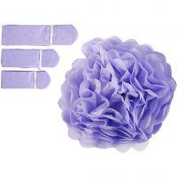 Pom-poms in carta velina, diam: 20+24+30 cm, 16 g, viola, 3 pz/ 1 conf.