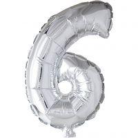Palloncino alluminio - 9, 6, H: 41 cm, argento, 1 pz