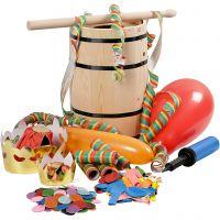 Barile di Carnevale con accessori, H: 38 cm, piccolo, 1 set