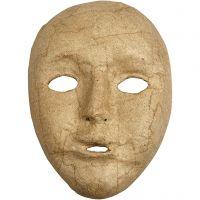 Maschera volto intero, H: 17,5 cm, L: 12,5 cm, 1 pz