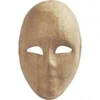 Maschera volto intero, H: 23 cm, L: 16 cm, 1 pz