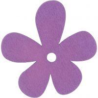 Fiore, misura 57x51 mm, viola, 10 pz/ 1 conf.