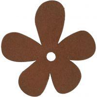 Fiore, misura 57x51 mm, marrone, 10 pz/ 1 conf.