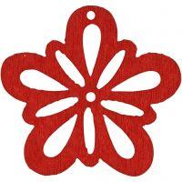 Fiore, diam: 27 mm, rosso, 20 pz/ 1 conf.