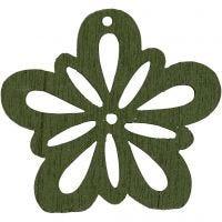 Fiore, diam: 27 mm, verde scuro, 20 pz/ 1 conf.
