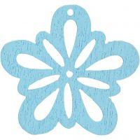 Fiore, diam: 27 mm, turchese chiaro, 20 pz/ 1 conf.
