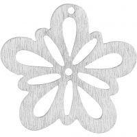 Fiore, diam: 27 mm, avorio, 20 pz/ 1 conf.