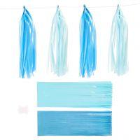 Nappe in carta , misura 12x35 cm, 14 g, blu, azzurro, 12 pz/ 1 conf.