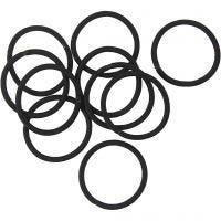 Fascia elastica per capelli, diam: 45 mm, nero, 10 pz/ 1 conf.