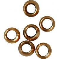 Perline a conchiglia, diam: 2 mm, placcato oro, 1000 pz/ 1 conf.