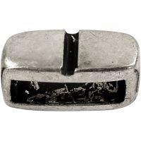 Ciondolo, misura 6x14 mm, misura buco 10x3 mm, argento antico, 5 pz/ 1 conf.