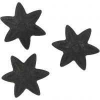 Copri perline, diam: 10 mm, nero, 10 pz/ 1 conf.