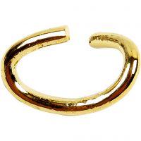Anelli apribili ovali, spess. 0,7 mm, placcato oro, 50 pz/ 1 conf.