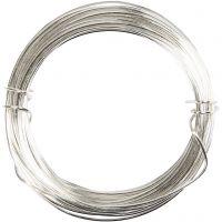 Filo argentato, spess. 0,6 mm, placcato argento, 10 m/ 1 rot.