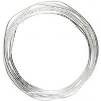 Filo argentato, spess. 1,2 mm, placcato argento, 3 m/ 1 rot.