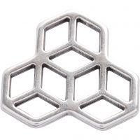 Ciondolo per gioielli, diam: 30 mm, placcato argento, 1 pz