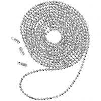 Catena a pallini, diam: 1,5 mm, placcato argento, 1 m