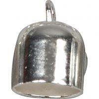 Chiusure bracciale, diam: 8 mm, placcato argento, 50 pz/ 1 conf.