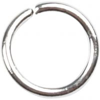 Anello apribile, misura 5,4 mm, spess. 0,7 mm, placcato argento, 500 pz/ 1 conf.