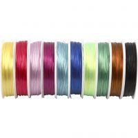 Cordino elastico per gioielli, spess. 1 mm, colori asst., 10x25 m/ 1 conf.