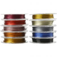 Filo per gioielli, spess. 0,38 mm, colori asst., 10x10 m/ 1 conf.