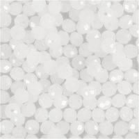 Perline sfaccettate, misura 3x4 mm, misura buco 0,8 mm, satinato, 100 pz/ 1 conf.