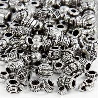 Mix perline in plastica, misura 7-11 mm, misura buco 3 mm, 25 g/ 1 conf.
