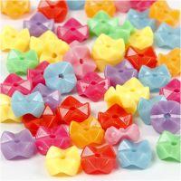 Perle sagomate, diam: 9,5 mm, misura buco 1,5 mm, colori asst., 125 ml/ 1 conf., 75 g