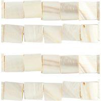 Perle in madreperla, diam: 12 mm, misura buco 1 mm, madreperla, 264 pz/ 1 conf.