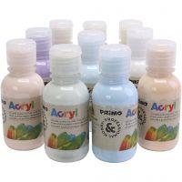 PRIMO Luxury pittura acrilica, colori pastello, 10x125 ml/ 1 conf.