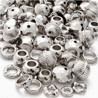Mix argento, misura 5-20 mm, misura buco 2-6 mm, 155 g/ 1 conf.