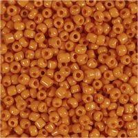 Perline rocaille, diam: 3 mm, misura 8/0 , misura buco 0,6-1,0 mm, arancio, 500 g/ 1 conf.