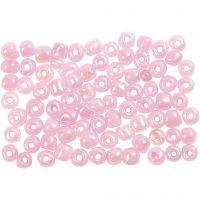 Perline rocaille, diam: 4 mm, misura 6/0 , rosato, 500 g/ 1 conf.