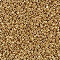 Perline rocaille, diam: 1,7 mm, misura 15/0 , misura buco 0,5-0,8 mm, ottone, 25 g/ 1 conf.