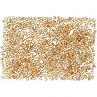 Perline rocaille, diam: 1,7 mm, misura 15/0 , misura buco 0,5-0,8 mm, pesca, 500 g/ 1 sacco