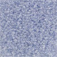 Perline rocaille, diam: 1,7 mm, misura 15/0 , misura buco 0,5-0,8 mm, azzurro, 25 g/ 1 conf.