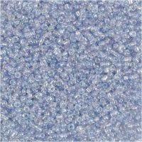 Perline rocaille, diam: 1,7 mm, misura 15/0 , misura buco 0,5-0,8 mm, azzurro, 500 g/ 1 sacco