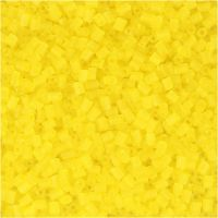 2-cut, diam: 1,7 mm, misura 15/0 , misura buco 0,5 mm, transparent giallo, 500 g/ 1 sacco