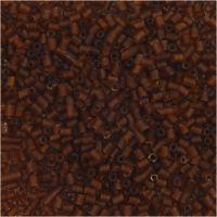 2-cut, diam: 1,7 mm, misura 15/0 , misura buco 0,5 mm, marrone, 25 g/ 1 conf.