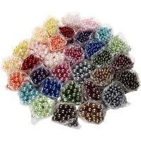 Perline di cera lusso - assortimento, misura buco 1,5-2 mm, 32x20 g/ 1 conf.
