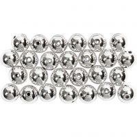 Perline di cera, diam: 8 mm, misura buco 1 mm, argento, 50 pz/ 1 conf.