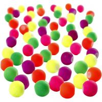Perline neon, diam: 6 mm, misura buco 1,2 mm, 200 g/ 1 conf.